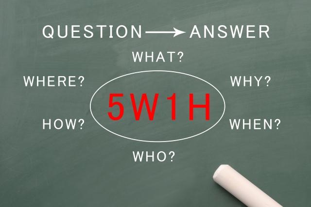 現場では5W1Hを用いて指示を見える化し、効率的に品質管理を行う事が重要。